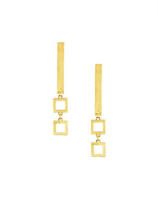 Stephanie Kantis - Metallic Frame Square-link Drop Earrings - Lyst