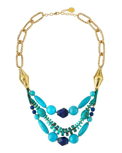Devon Leigh - Blue Turquoise & Lapis Multi-strand Necklace - Lyst