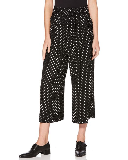 Laundry by Shelli Segal - Black Dotted Crop Pant - Lyst