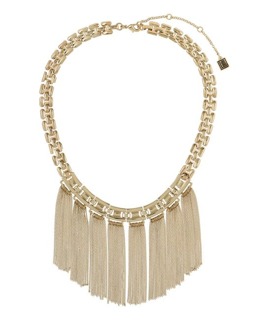 Laundry by Shelli Segal - Metallic Tassel Collar Necklace - Lyst