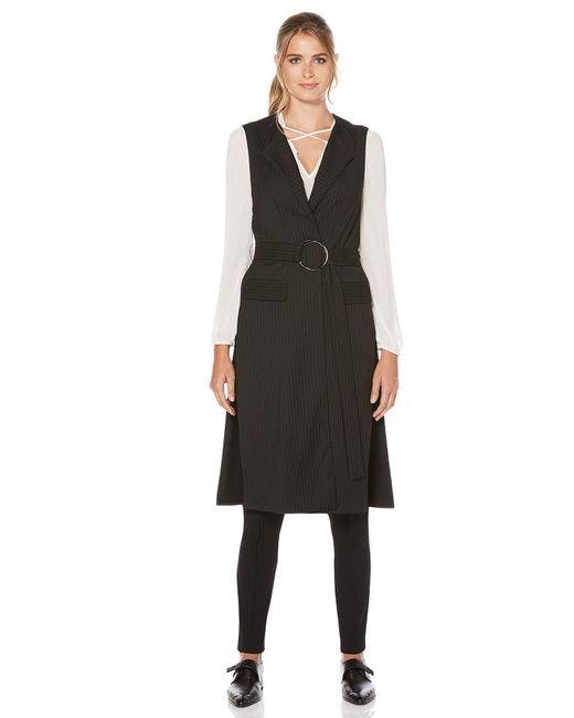 Laundry by Shelli Segal - Black Pinstripe Tunic Vest - Lyst