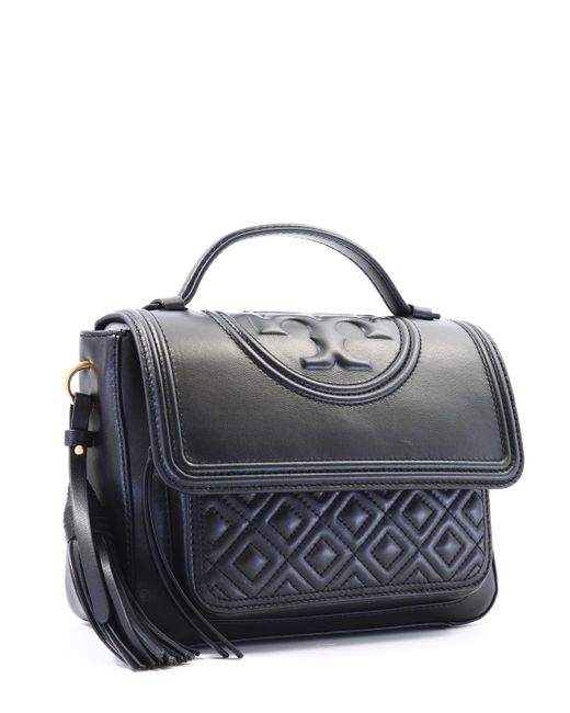 b0812aaa57a9 ... Tory Burch - Fleming Bag Black Leather - Lyst ...