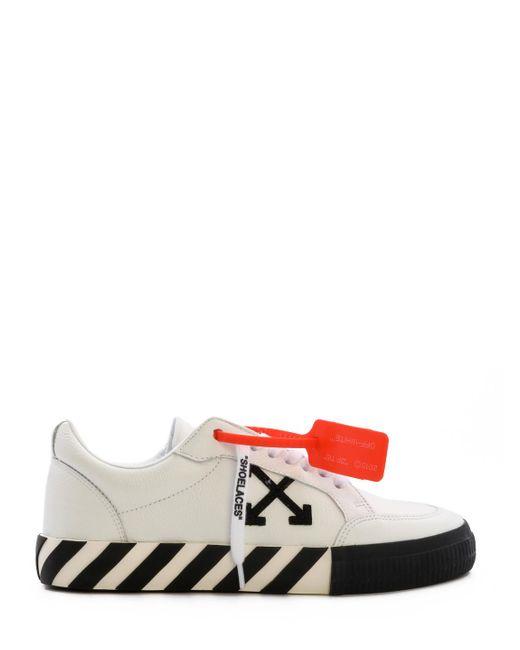 Off-White c/o Virgil Abloh White Low Vulcanized Leather Sneakers for men