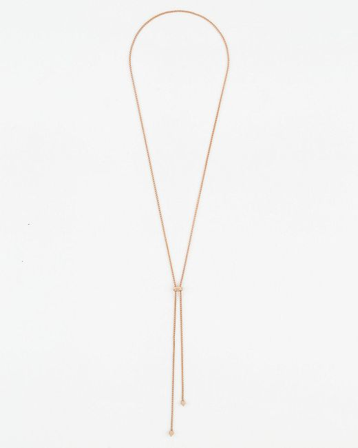 Le Chateau - Metallic Chain Slider Necklace - Lyst