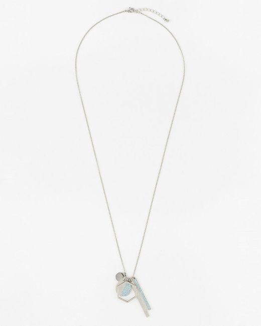 Le Chateau - Multicolor Metal Circle & Bar Pendant Necklace - Lyst
