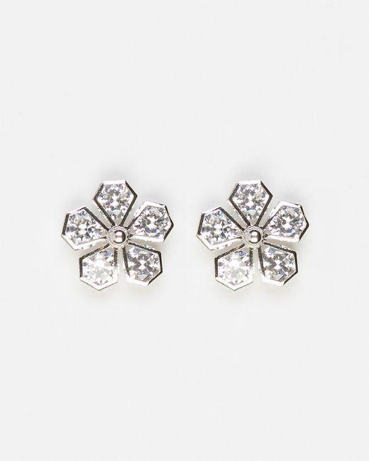 Le Chateau - Metallic Floral Gem Stud Earrings - Lyst