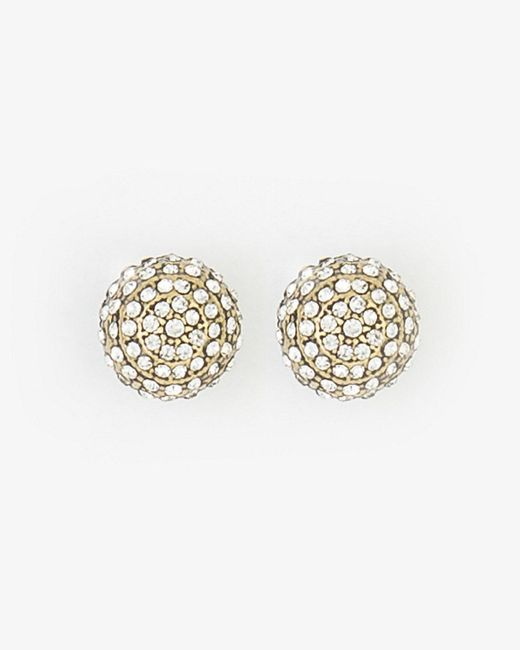 Le Chateau - Metallic Gem Stud Earrings - Lyst