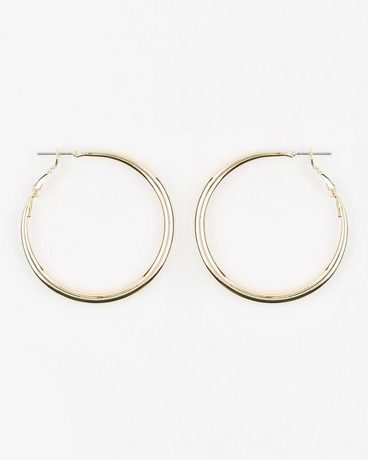 Le Chateau - Metallic Metal Hoop Earrings - Lyst