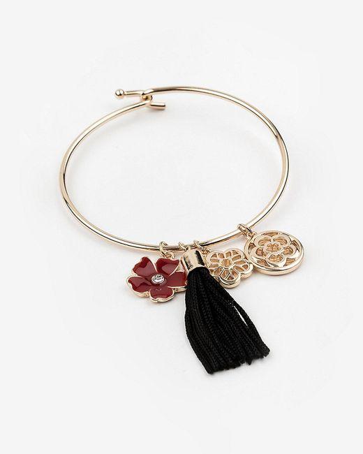 Le Chateau - Metallic Tassel & Charm Bracelet - Lyst