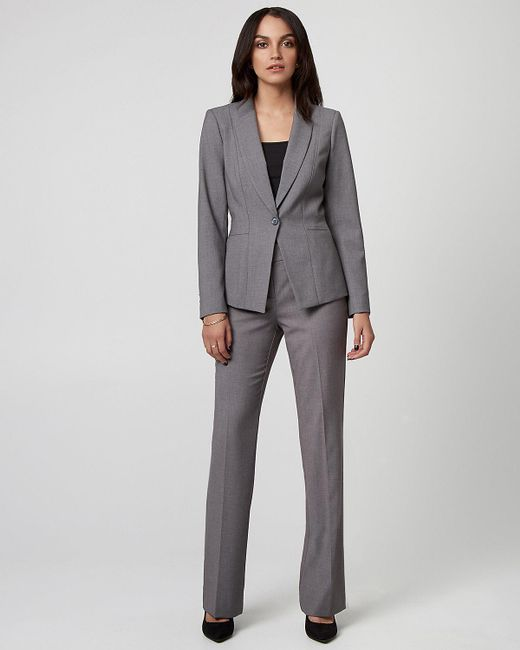 Le Chateau - Gray Viscose Blend Notch Collar Blazer - Lyst
