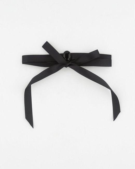 Le Chateau - Black Gem & Satin Choker Necklace - Lyst