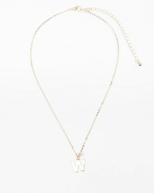 Le Chateau - Metallic Initial Pendant Necklace (n-z) - Lyst