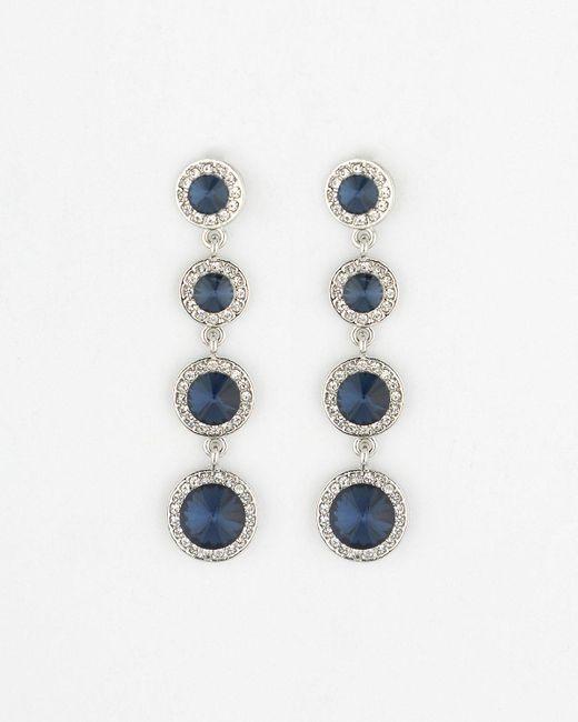 Le Chateau - Blue Gem Chandelier Earrings - Lyst
