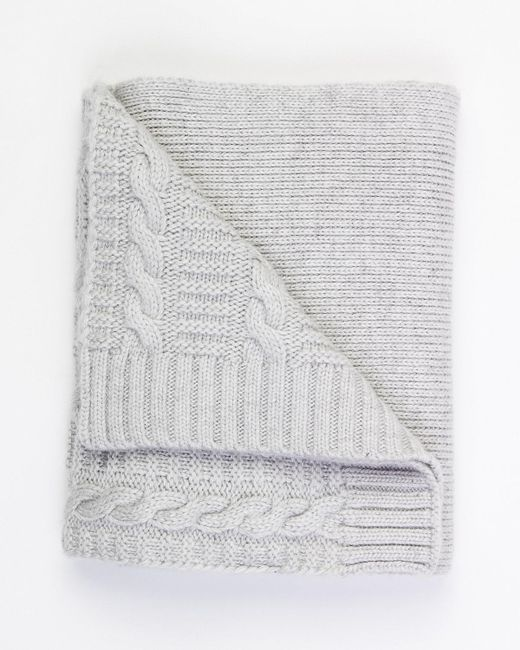 Le Chateau - Gray Cable Knit Scarf - Lyst