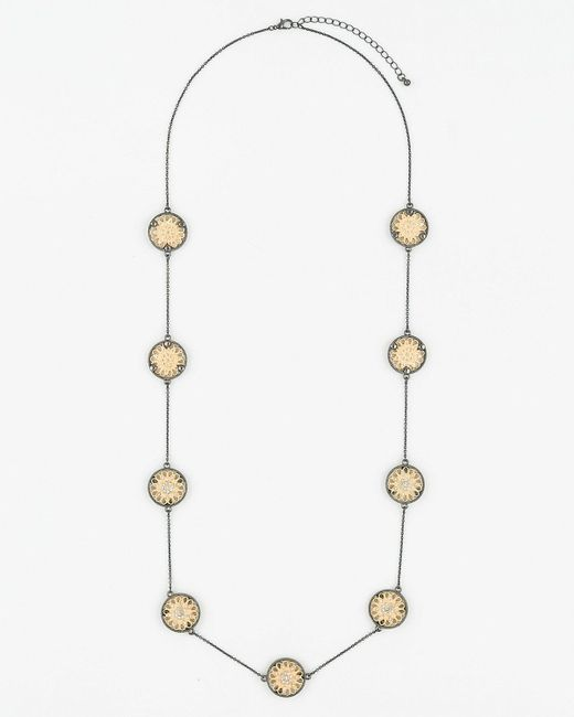 Le Chateau - Metallic Filigree Necklace - Lyst