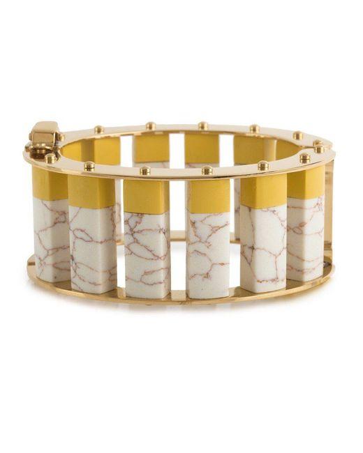 Lele Sadoughi - Metallic Stone Column Slider Bracelet - Lyst