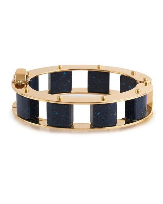 Lele Sadoughi - Blue Stone Cube Slider Bracelet - Lyst