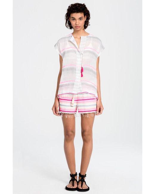 Lemlem | Pink Elsi Shorts | Lyst