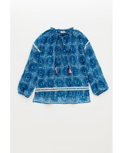 Lemlem | Blue Makena Poet Shirt | Lyst