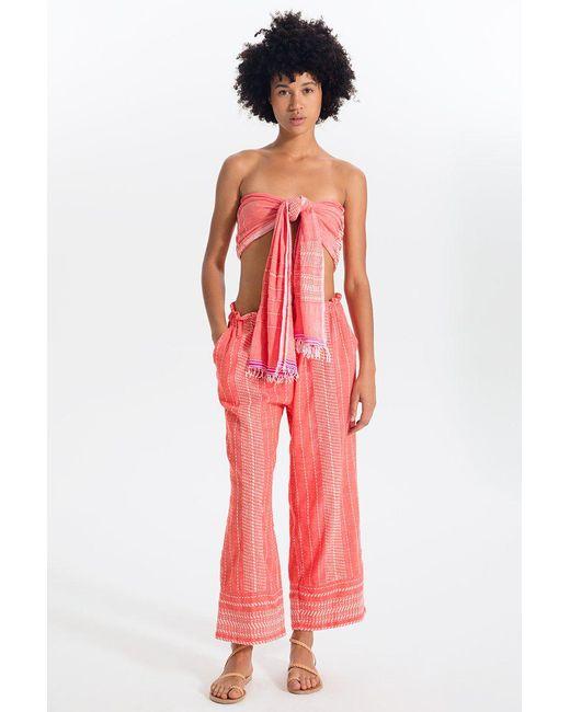 Lemlem - Red Saba Pants - Lyst