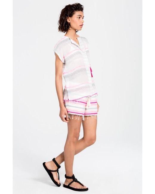 Lemlem | Pink Aden Shirt | Lyst