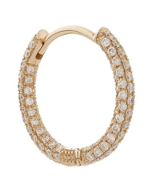 "Maria Tash | Metallic 5/16"" Diamond Five Row Pave Earring | Lyst"