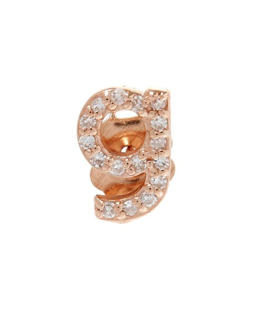 KC Designs - Multicolor Rose Gold Diamond G Single Stud Earring - Lyst