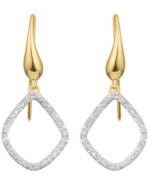 Monica Vinader - Metallic Gold Vermeil Riva Kite Diamond Earrings - Lyst