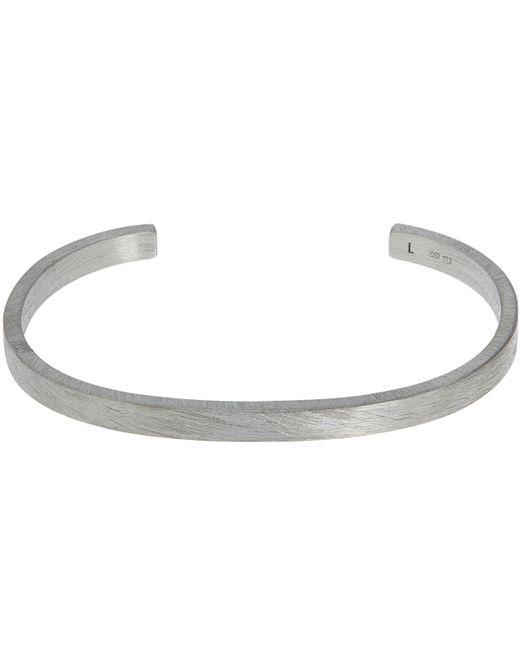 All_blues - Metallic Rectangle Brushed Cuff Bracelet - Lyst