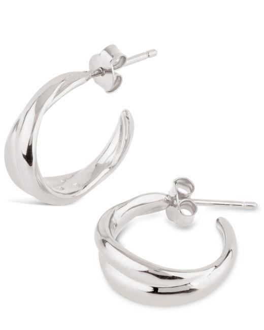 Dinny Hall - Metallic Silver Twist Mini Hoop Earrings - Lyst