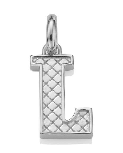 Monica Vinader - Metallic Silver Alphabet Pendant A-z - Lyst