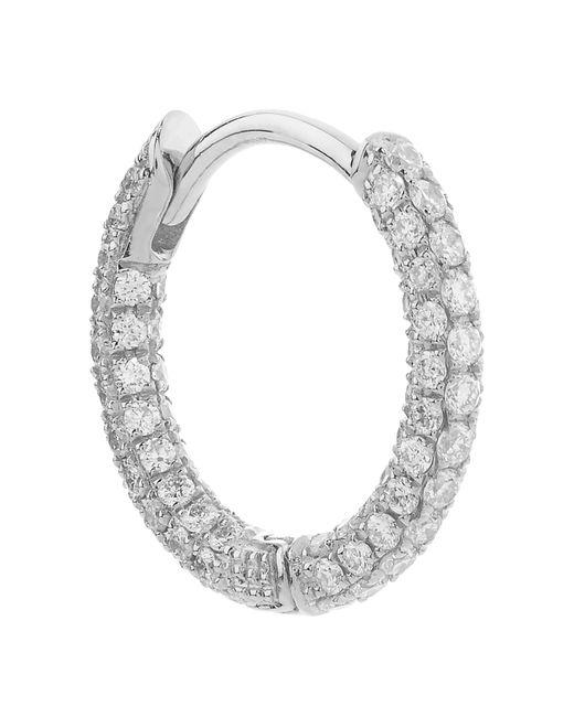 "Maria Tash - Metallic 5/16"" Diamond Five Row Pave Earring - Lyst"