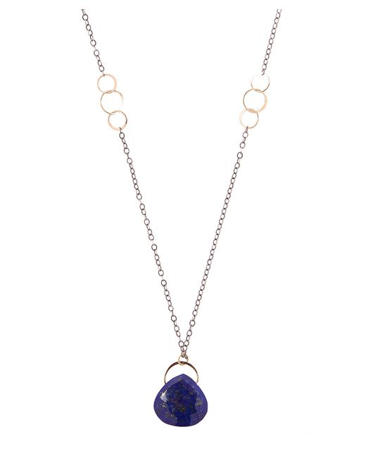 Melissa Joy Manning - Metallic Recycled Sterling Silver Lapis Single Drop Necklace - Lyst