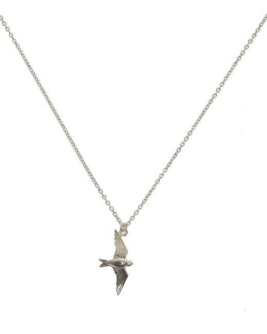 Alex Monroe - Metallic Silver Flying Swallow Necklace - Lyst