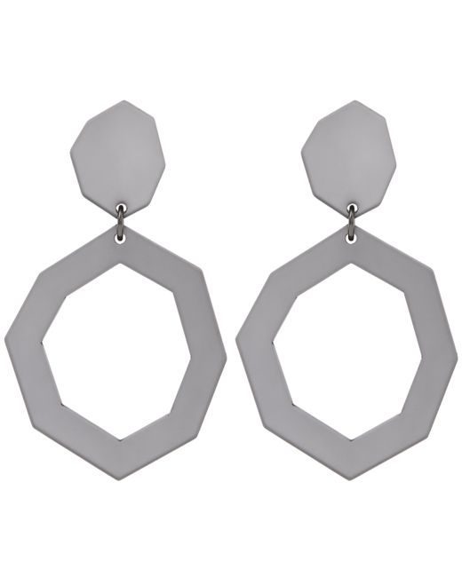 Diana Broussard - Gray Eurydice Mirror And Resin Earrings - Lyst