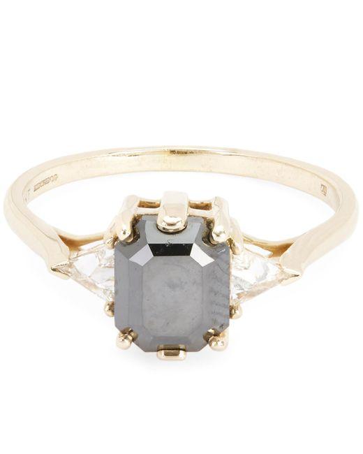 Anna Sheffield | Metallic Gold Bea Black Diamond Three Stone Ring | Lyst