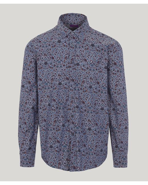 Liberty - Blue Imran Chambray Cotton Long-sleeved Lasenby Shirt for Men - Lyst