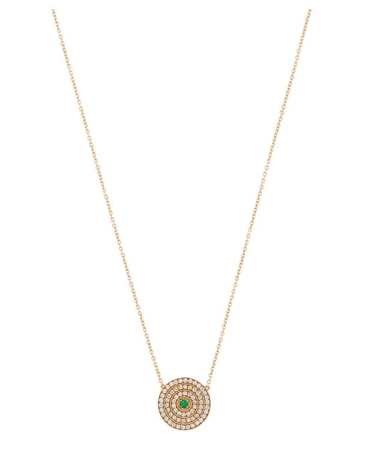 Andrea Fohrman - Metallic Gold Double Rainbow Multi-stone Disc Necklace - Lyst
