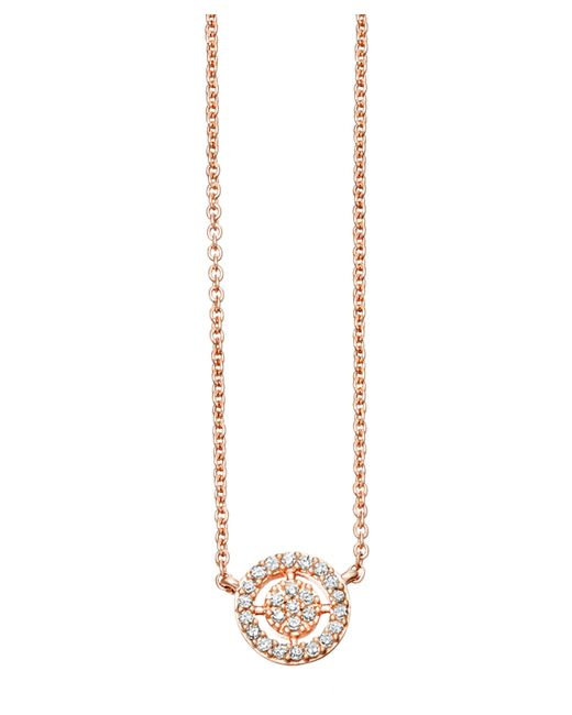 Astley Clarke - Metallic Rose Gold Mini Icon Aura Pendant Necklace - Lyst