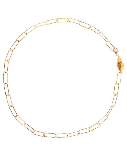 Alighieri Metallic Gold-plated L'incognito Necklace