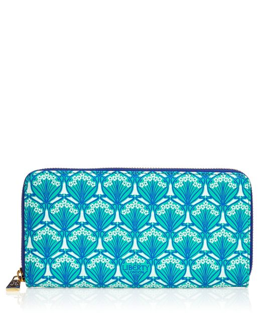 Liberty | Blue Zip-around Wallet | Lyst