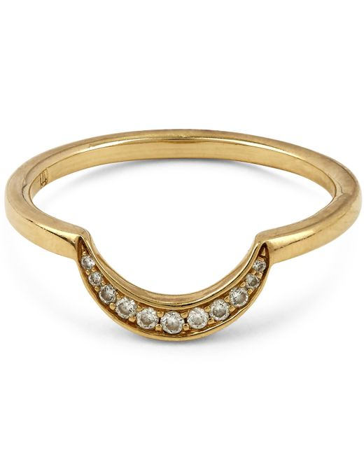 Anna Sheffield   Metallic New Moon Ring   Lyst