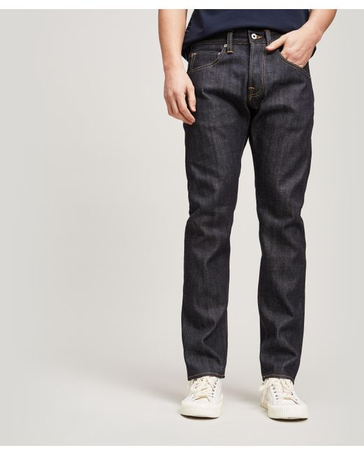 6be9c4da Edwin - Blue Ed55 Red Selvedge Unwashed Jeans for Men - Lyst ...