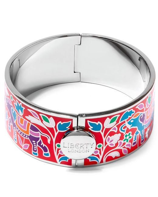 Liberty - Multicolor Imran Enamel Thick Cuff - Lyst