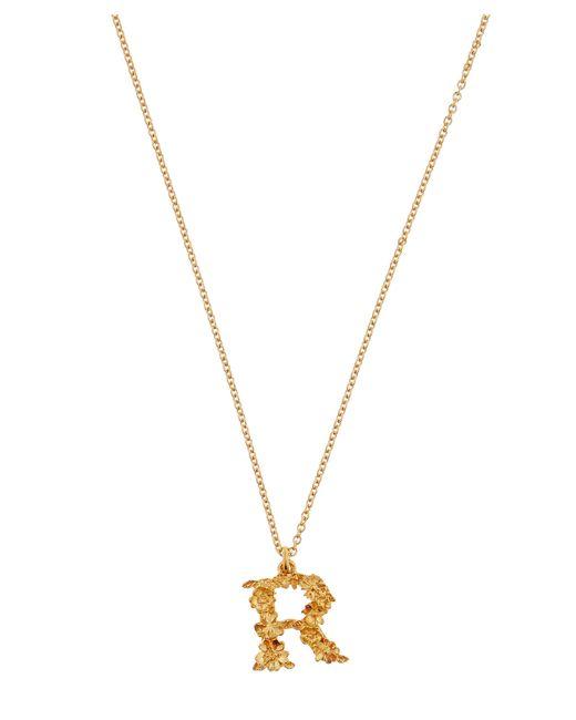 Alex Monroe - Metallic Gold-plated Floral Letter R Alphabet Necklace - Lyst