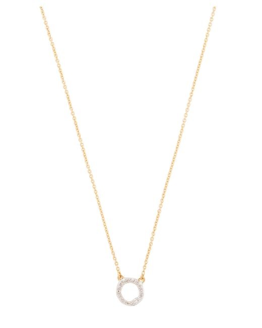 Monica Vinader - Metallic Gold-plated Riva Diamond Circle Necklace - Lyst