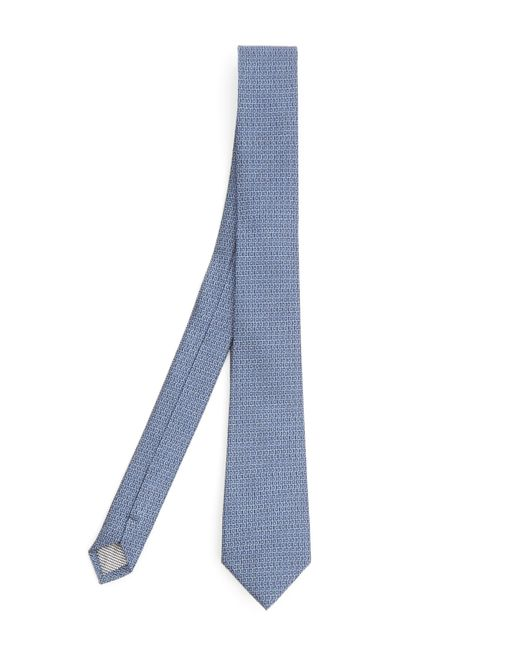 Simon Carter - Blue West End Squiggle Silk Tie for Men - Lyst