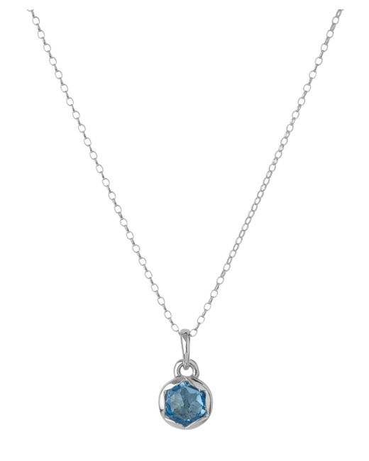 Dinny Hall | Metallic Small Silver Fluted Orb Swiss Blue Topaz Charm Pendant Necklace | Lyst