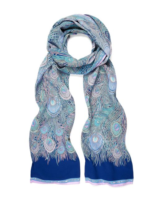 Liberty - Blue Hera Long Silk Scarf - Lyst