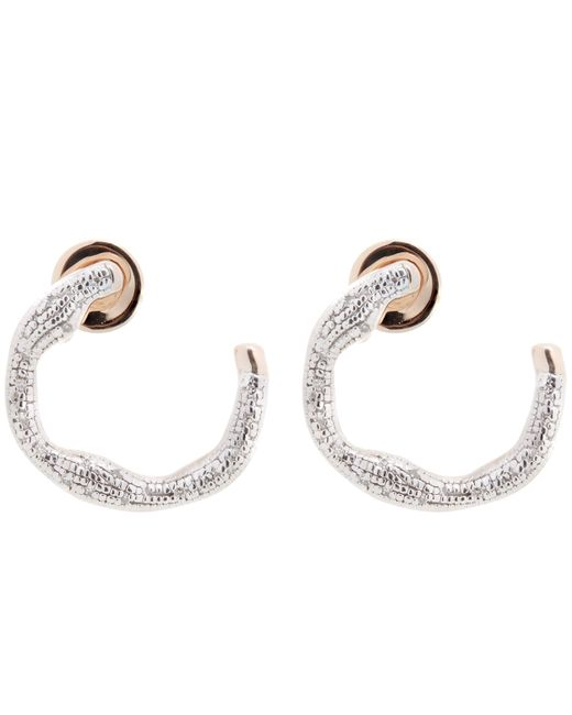 Gold Riva Diamond Circle Wrap Earrings Diamond Monica Vinader 2ru6e
